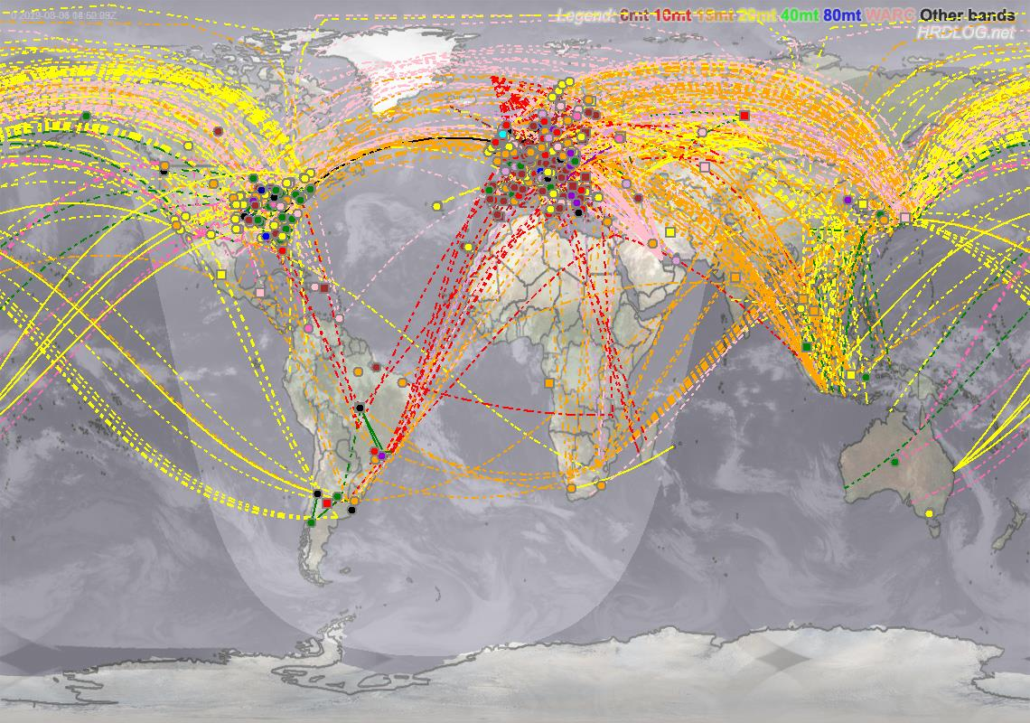Digital QSO Map